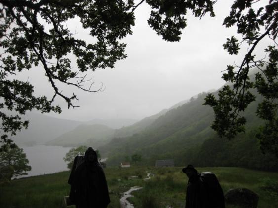 Regenwetter in Schottland